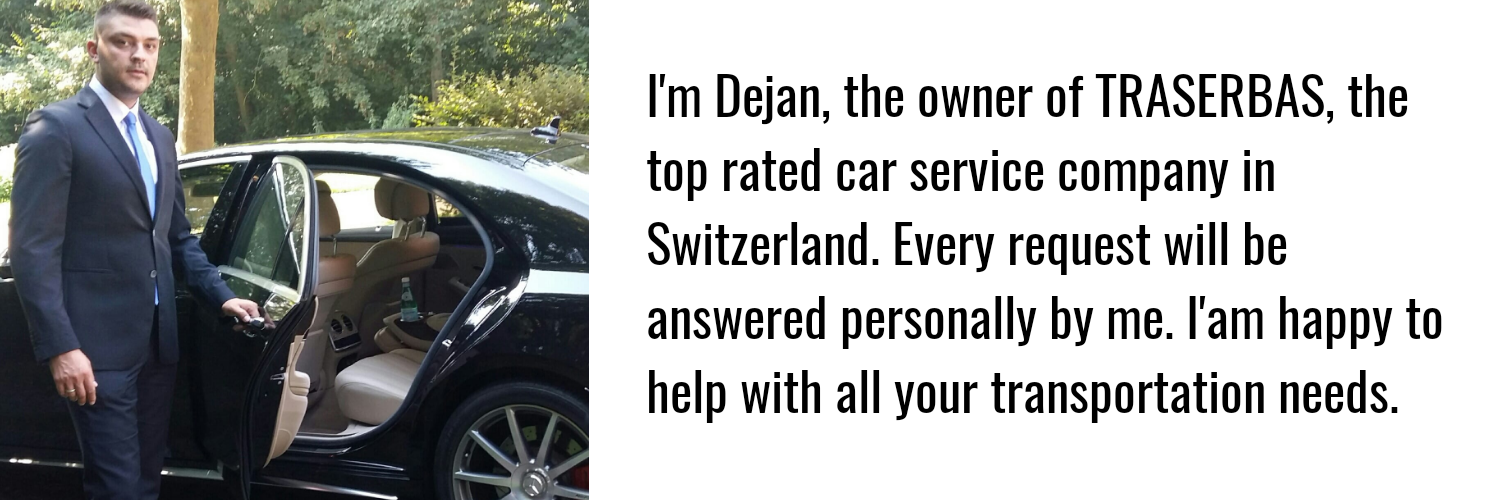 the owner of the best rated private car service in switzerland traserbas