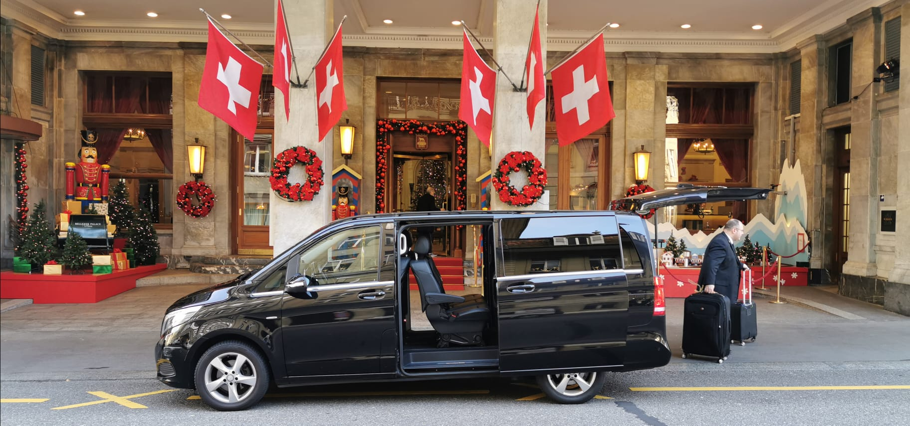 traserbas executive mercedes car ready for zurich airport transfer