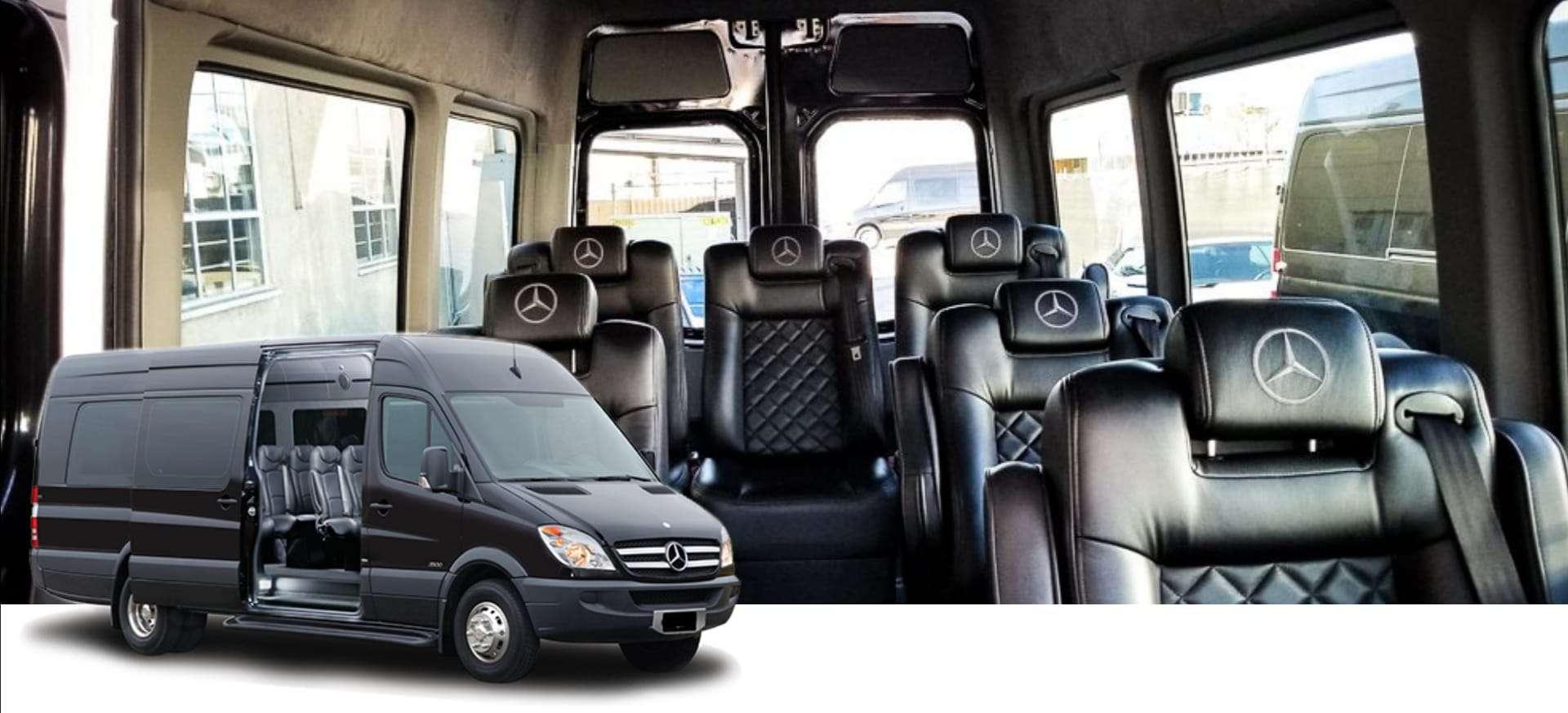 hire this mercedes sprinter minibus with leather interior in zurich