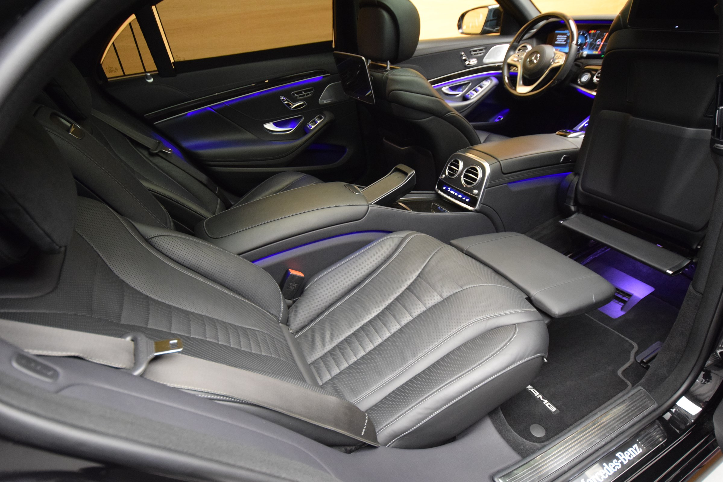 our clean limousine from inside ready for limousine services in davos for the world economic forum