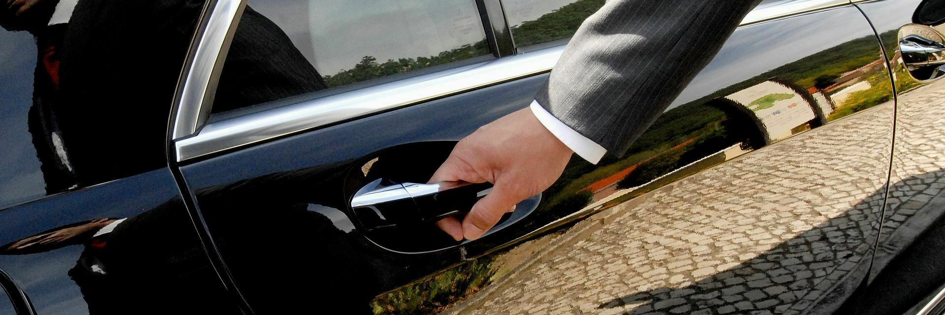 traserbas chauffeur holding the door of a limousine